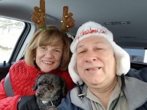 Susan Oropallo, Bonnie Oropallo and Charles Oropallo going to friends home on Christmas Day 2017. Photo by Charles Oropallo.