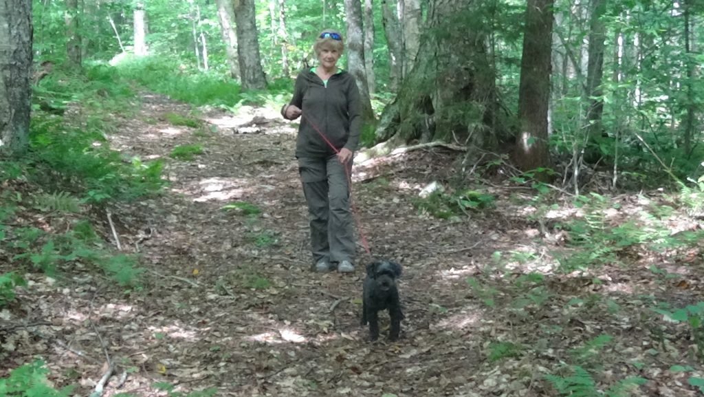 Bonnie Oropallo hiking with Susan Oropallo and Charles Oropallo at the Smuggler's Notch, Vermont camp site September 7, 2018. Photo by Charles Oropallo.